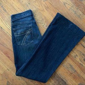 7 For All Mankind Dojo Wide Leg Flare Jeans SZ 25